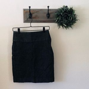 Gap Dark Jean Pencil Skirt 0